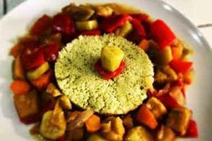 Cous cous di verdure al pesto